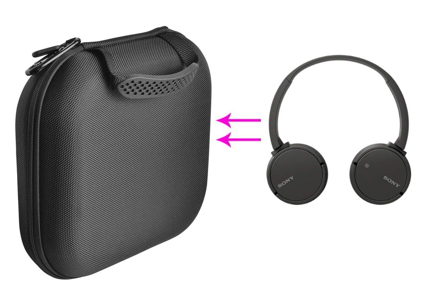 GH GHawk® Sony WH-CH500 Estuche para Auriculares Estuche rígido de Viaje Bolsa de Transporte Protectora Caja de Auriculares Auricular Estuche portátil: ...