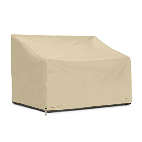 SunPatio Outdoor Sofa Cover 60 Inch, Heavy Duty Bench Covers, Patio  Furniture Cover, All Weather Protection, Beige