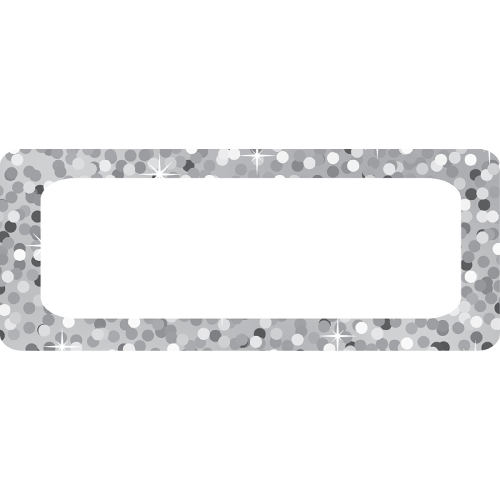 Ashley Productions Silver Sparkle Magnetic Small Nameplates