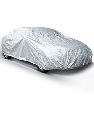 Car Covers for Sedan Outdoor, Ohuhu Upgrade Auto Vehicle Cover Waterproof Windproof Dustproof Scratch Resistant
