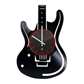 Guitar Vinyl Record Wall Clock   Decorate Your Home Room With Modern Art    Best Music
