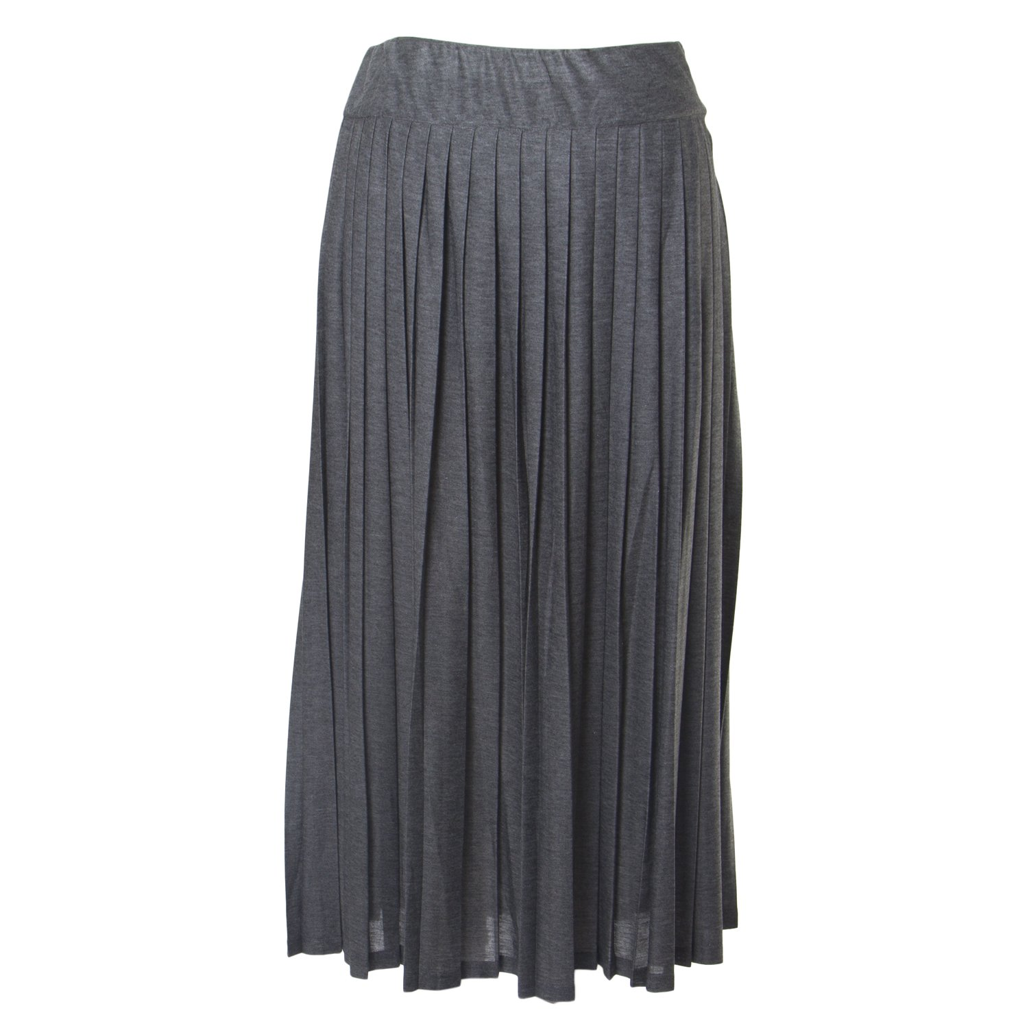 Marina Rinaldi Women's Occulto Accordion Skirt, Grey, Large