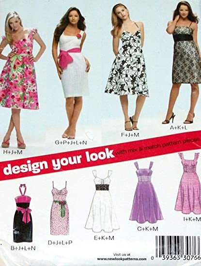 3d79ff757a9 Amazon.com  New Look Sewing Pattern 6699 Misses Dresses