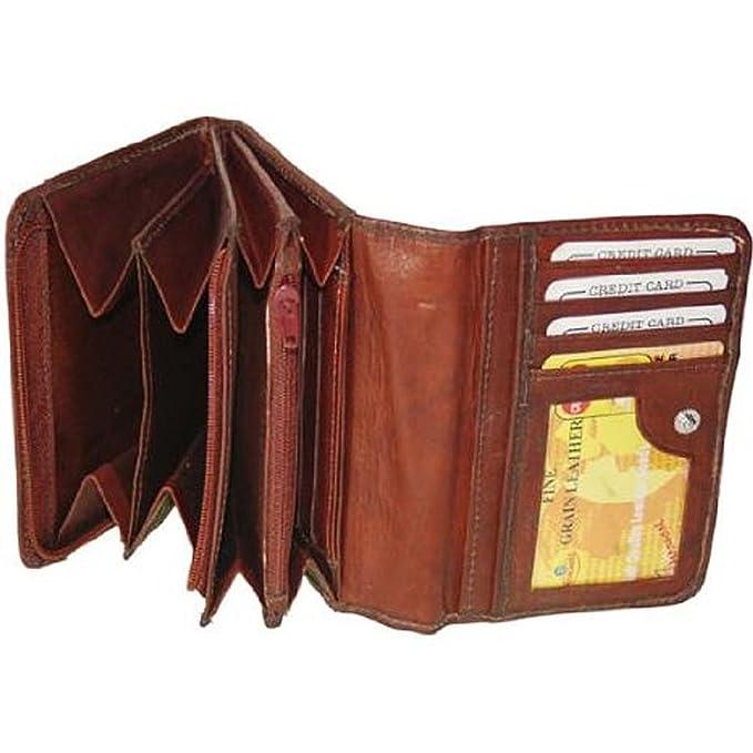 Amazon.com: Nueva señoras de piel embrague billetera Cambio ...