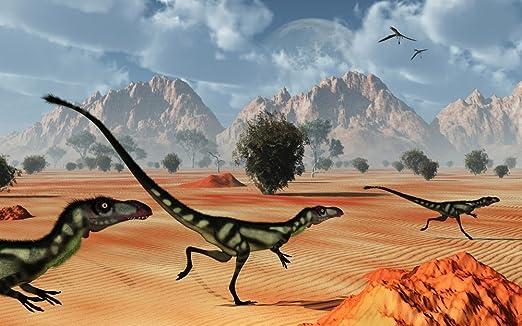 Mark Stevenson/Stocktrek Images – A pack of dilong tyrannosaurid dinosaurs hunting. Photo Print (91,44 x 56,90 cm): Amazon.es: Hogar