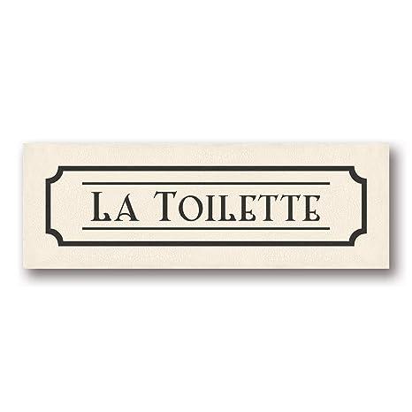 Amazon.com: La Toilette – Mini señal Picture Amazing Francia ...