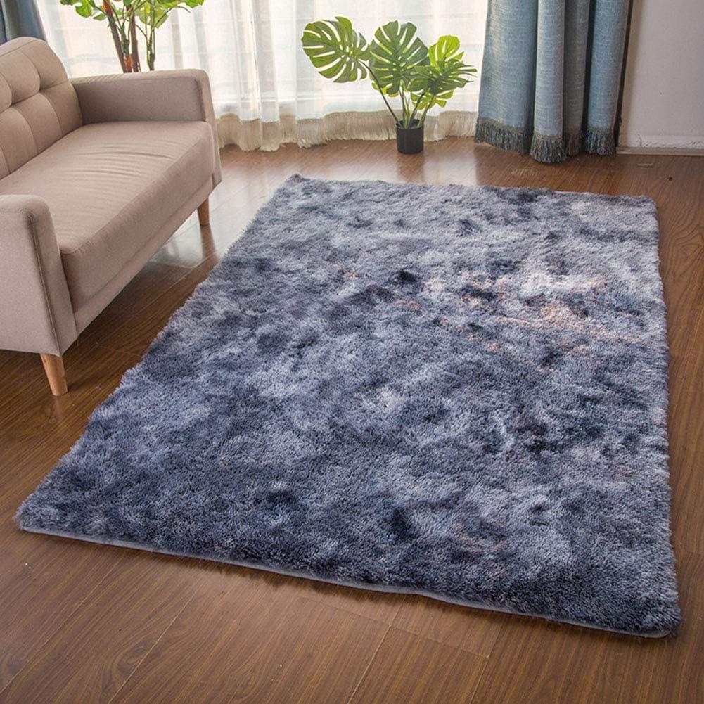 Super Soft Indoor Modern Shag Area Rug,Anti-Skid Comfort Shaggy Rug,Dining Room Home Bedroom Carpet Floor Mat,Silky Smooth Rugs Fluffy Rug-Dark Gray 100x160cm(39x63inch)