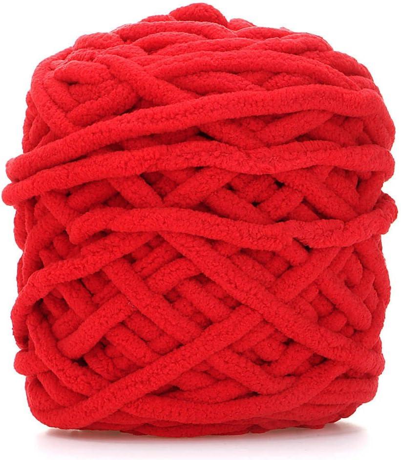Rouge HuntGold Super Doux Double Tricot Chunky /Épais Tricot /à la Main Fils de Laine /à Tricoter