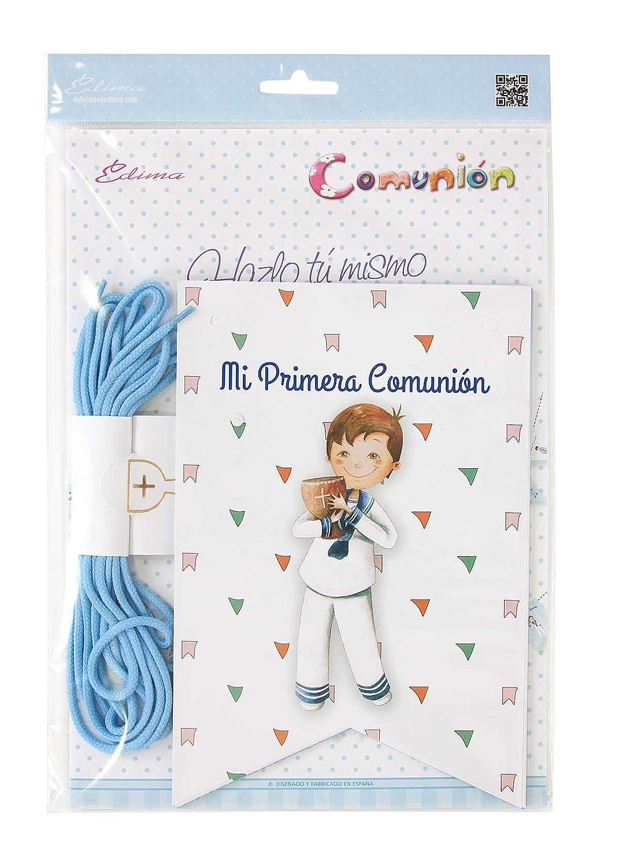 Edima - Bolsa con banderines Mi Primera Comunión DIY (465907-B): Amazon.es: Juguetes y juegos