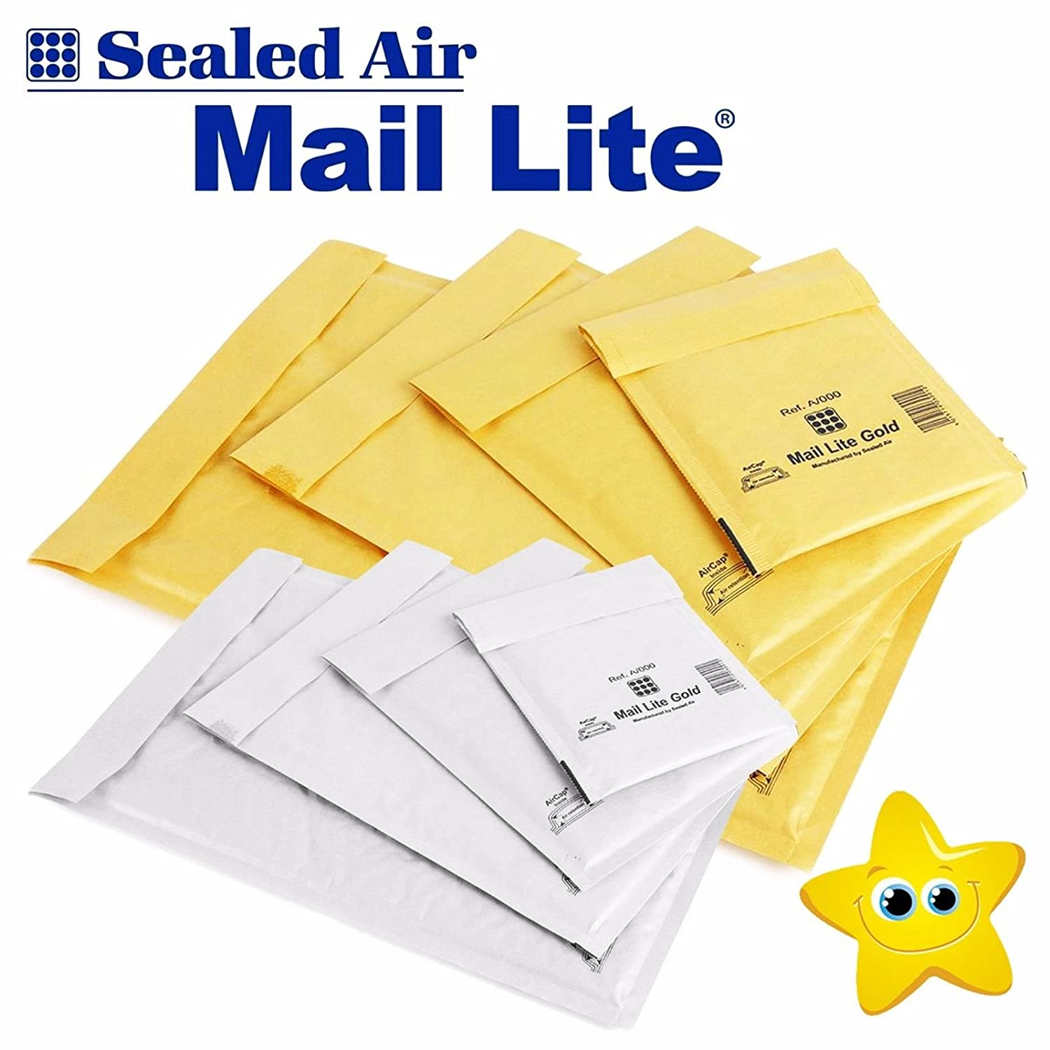 STAR SUPPLIES/® Mail LITE//Lites Padded Bags ENVELOPES All Sizes Gold