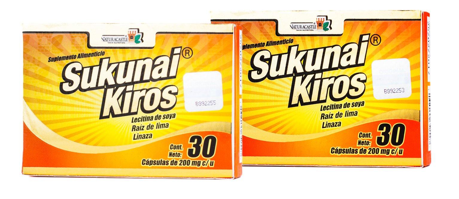 Sukunai Kiros 2 Pack 60 Capsules for Weight Loss 100 % Natural