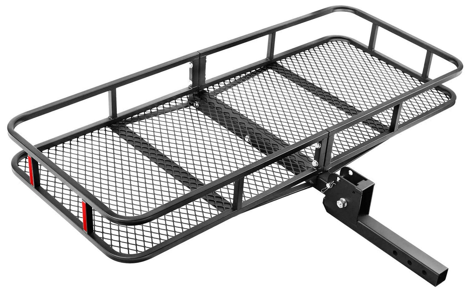 Leader Accessories Hitch Mount Cargo Basket Folding Cargo Carrier Luggage Basket 60'' L x 24'' W x 6'' H with 500 LB Capacity Fits 2'' Receiver