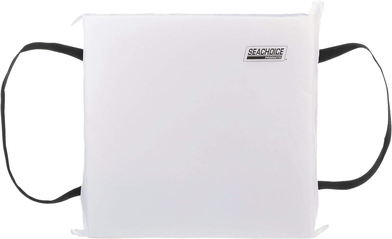 SEACHOICE 44920 Foam Emergency Marine Flotation Cushion 15-Inch x 15-Inch, White