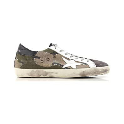 low priced 478ff 62841 Golden Goose Men s Sneakers Superstar Camou-Grey White Star G32MS590.E85  (Size