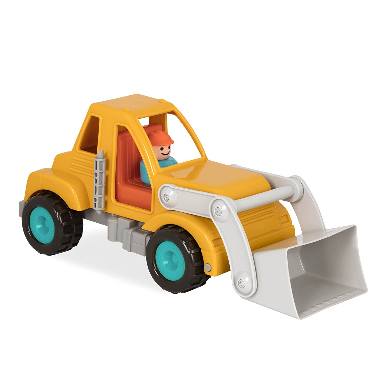 Battat  Garbage Truck with Working Movable Parts and Driver-Toy Trucks for Toddlers 18m+