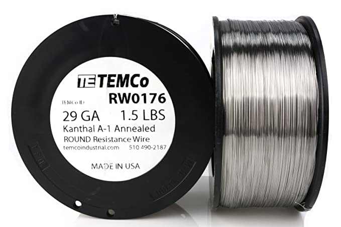 TEMCo Kanthal A1 wire 29 Gauge 250 Ft Resistance AWG A-1 ga - - Amazon.com