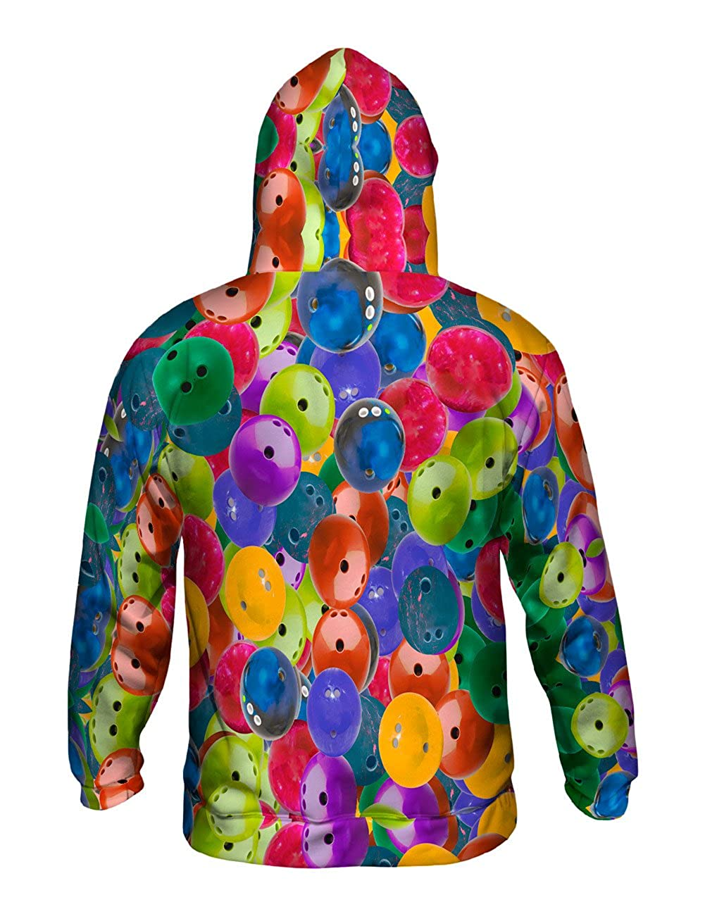 Yizzam Allover Print Mens Hoodie Sweater Strike Bowling Ball Pride
