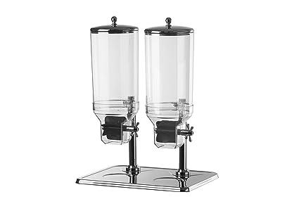 Expendedor de muesli y cereales Dispensador Dispensador Duo 2 x 7,5 litros Acero inoxidable