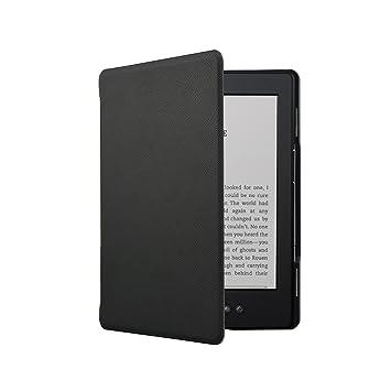 Fskying Kindle 4 Case, Premium Leather Ereader Cover Case for Kindle 4 /  Kindle 5, Black