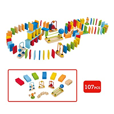 Award Winning Hape Dynamo Kid's Wooden Domino Set: Toys & Games