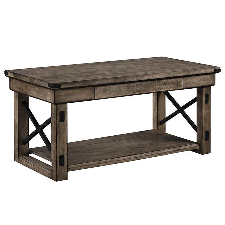 Wildwood Rustic Grey Coffee Table Amazon Home & Kitchen