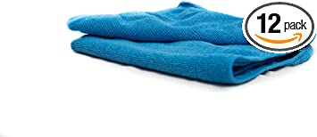Xtreme Auto Supplies Commercial Grade All-Purpose Microfiber Towels Red 12 Pack 14.5 in. x 24 in.
