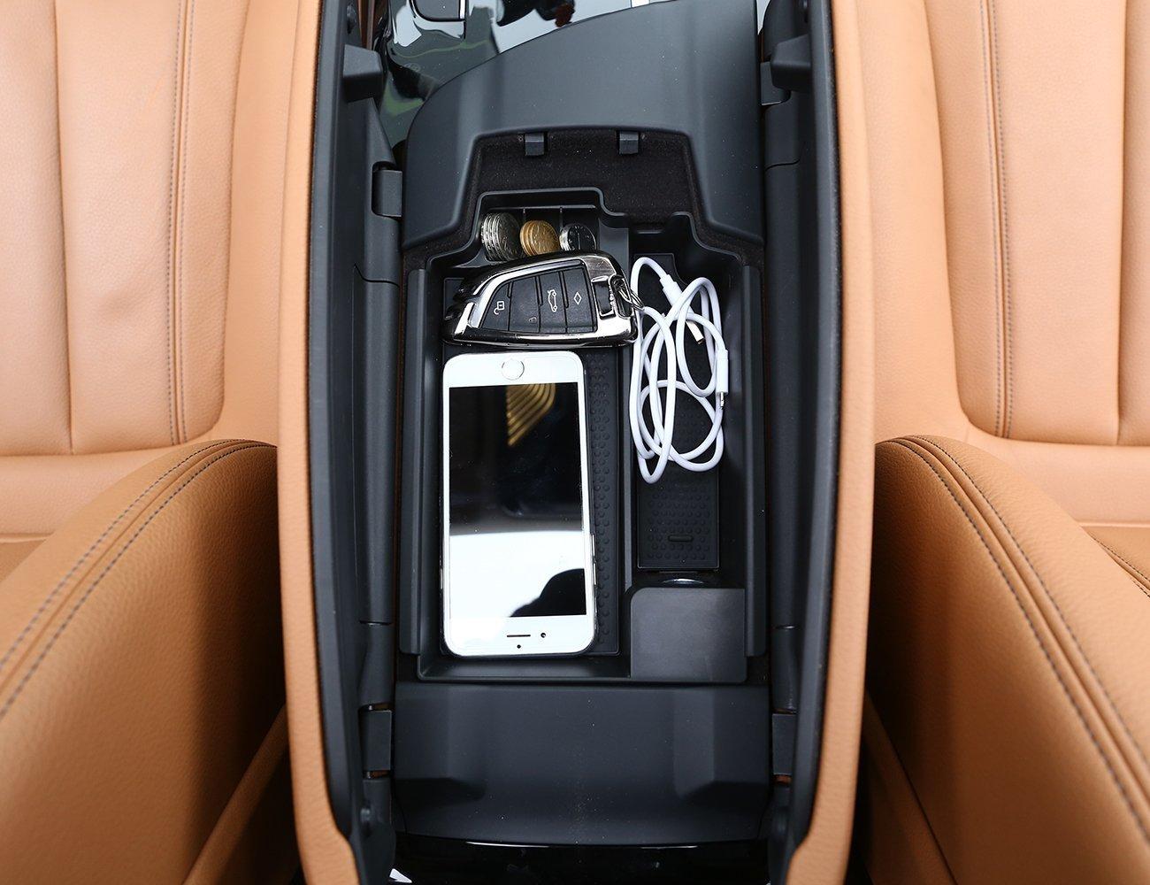 car-styling Kunststoff Mittelkonsole Armlehne Aufbewahrung Auto Innen Zubehö r Box Handy Tablett fü r 5 Serie G30 2018 Luxuqo