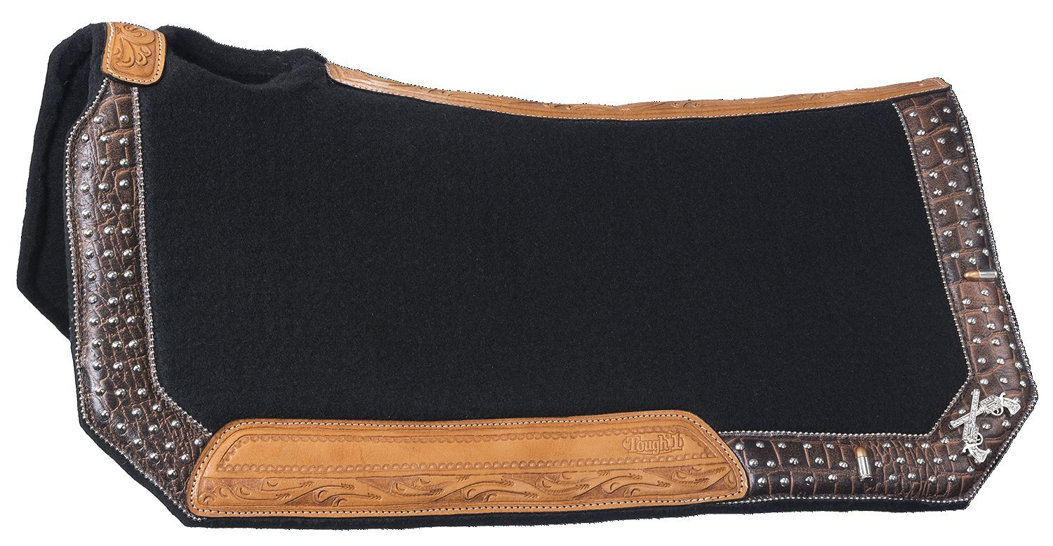 Tough 1 Pistol Annie Collection Saddle Pad, Brown Alligator Overlay