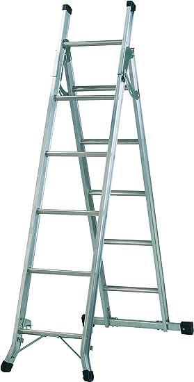 Abru 5 Way Combination Ladder With Platform Heavy Duty 150kg Load Capacity Bs En131 Certification 5 Year Guarantee Amazon Co Uk Diy Tools