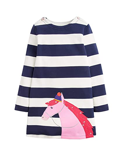 Amazon.com  Joules Kids Womens Applique Knit Dress (Toddler Little Kids)   Clothing 8a163f5388