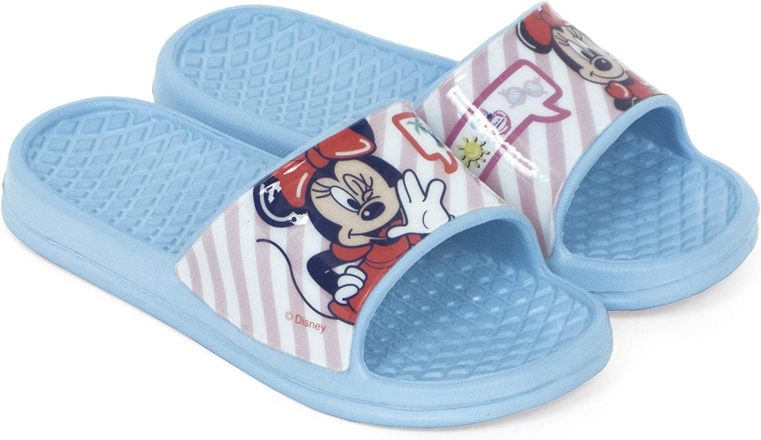 Chanclas Minnie Mouse para Playa o Piscina - Flip-Flop Minnie Mouse Disney para niñas