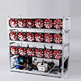 19 GPU Miner Case With 18 Red Fans, Aluminum Stackable Mining Rig Open Air Frame For Ethereum(ETH)/ETC/ ZCash Ethereum,Bitcoin,Cryptocurrency and Altcoins to improve GPU performance and life