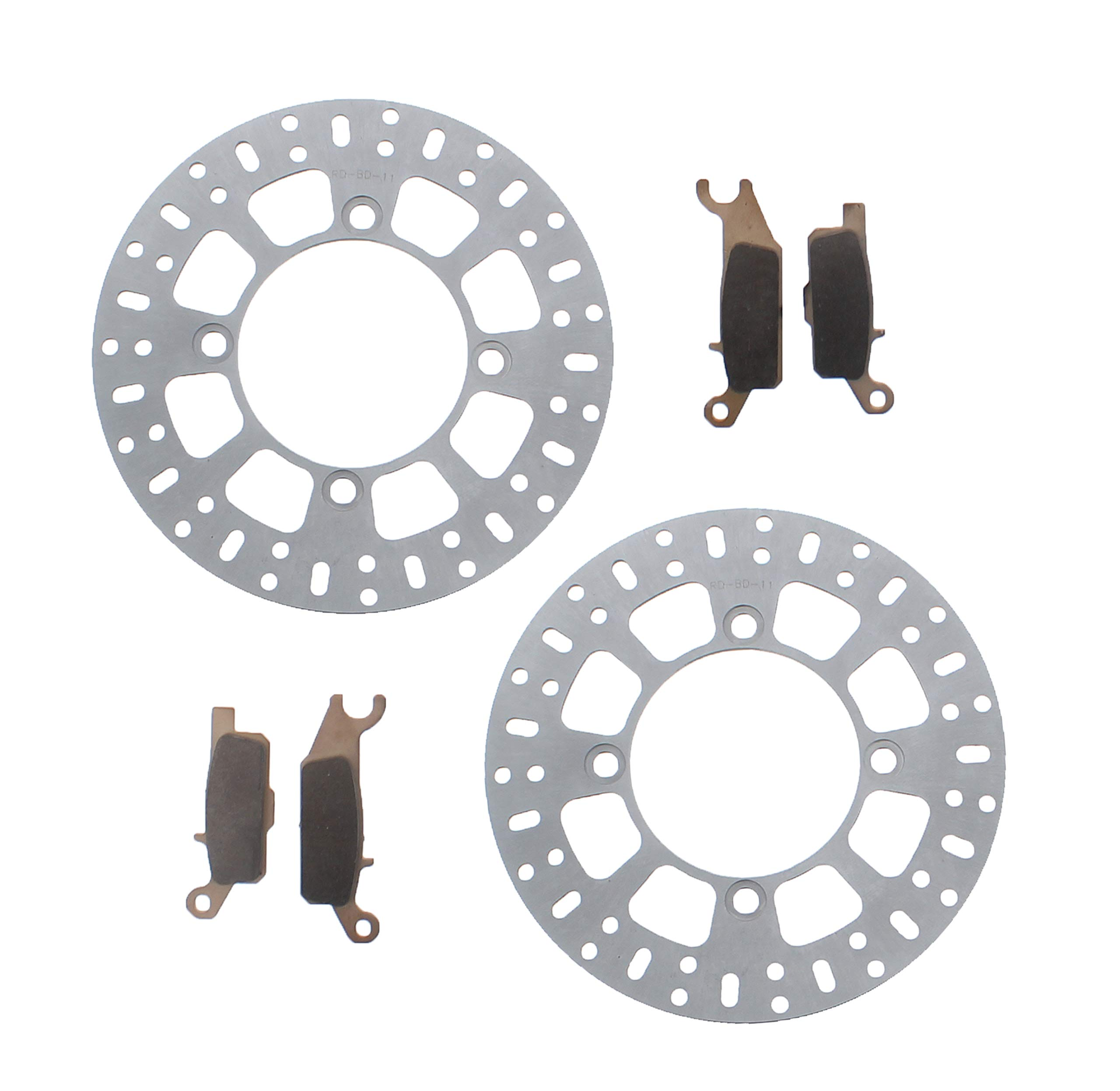 Yamaha YFM700 700 Grizzly 2007-2017 Front Brake Pads and Brake Rotors Discs
