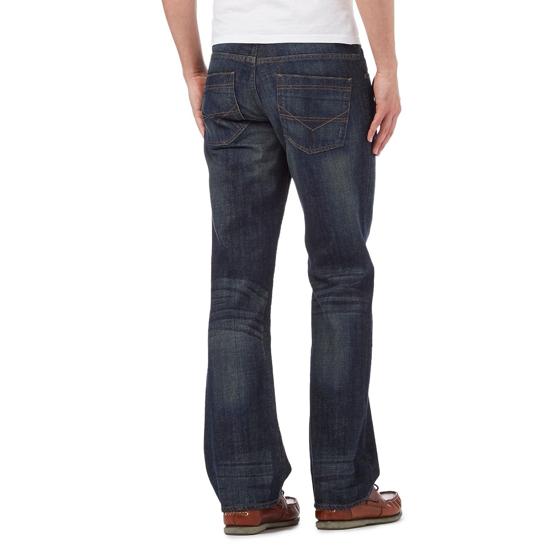 9fdc7d3aa08 Maine England Men Dark Blue Vintage Wash Jeans 32L  Debenhams  Amazon.co.uk   Clothing