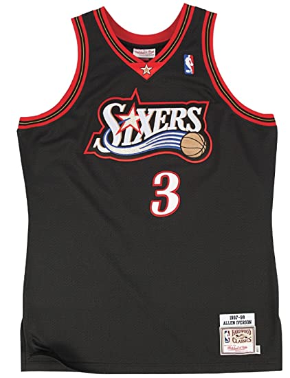 f338de949390 Mitchell   Ness Allen Iverson Philadelphia 76ers Authentic 1997-98 NBA  Jersey