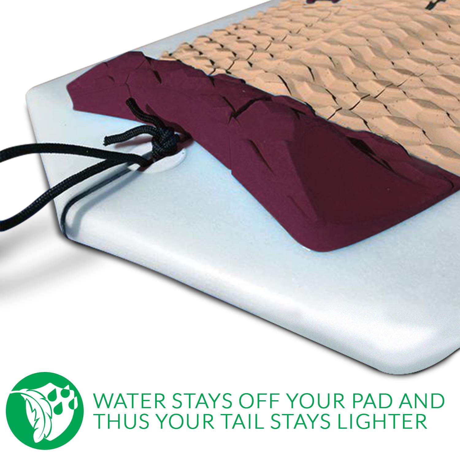 Eco Deck Pad Wave Tribe Cork Surfboard Traction Pad Better for Planet Soft of Knees Great Grip /& Stomp