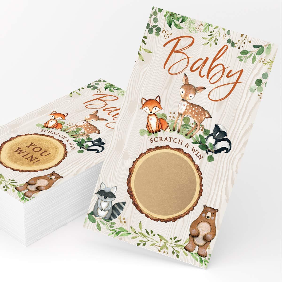 Fox Woodland ABC Baby Shower Game Deer Woodland Animal Baby Shower ABC Game Baby Shower Activity Woodland Baby Shower ABC Game 2020-A