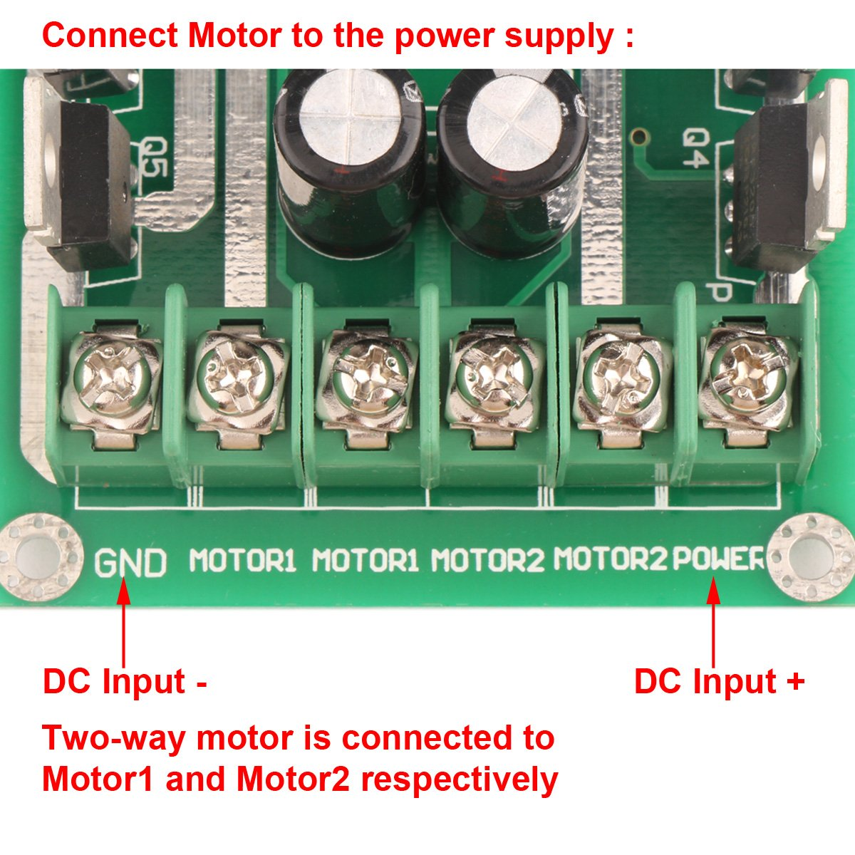 Drok Dc Smart Car Pwm Dual Motor Driver Controller Module Circuit Simple Controlled To Cell Phone Charger Science Board H Bridge Ic And Reliable Drive Industrial Scientific