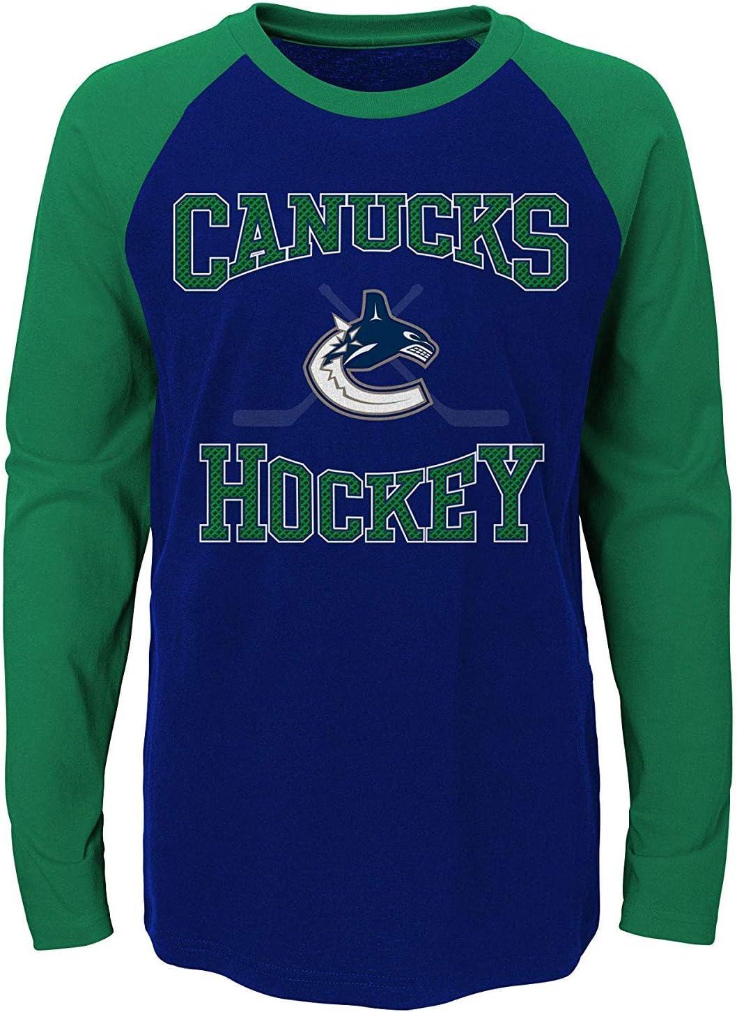Vancouver Canucks Youth Morning Skate Long Sleeve Raglan T-Shirt