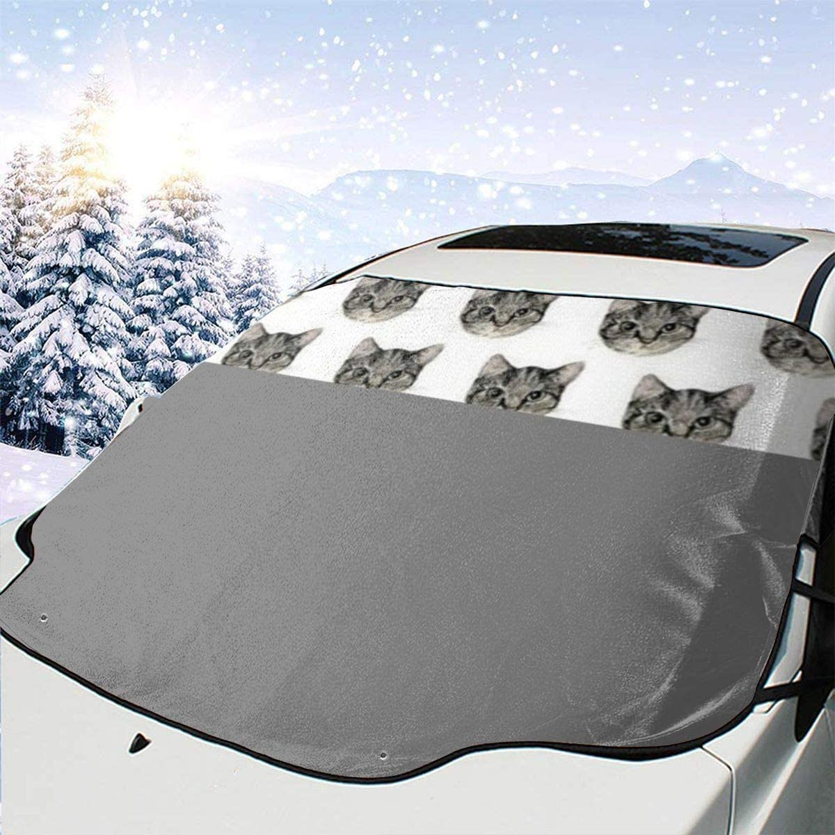 Mattrey French Bulldog Car Windshield Sun Shade Cover Front Water Sunlight Snow Cover