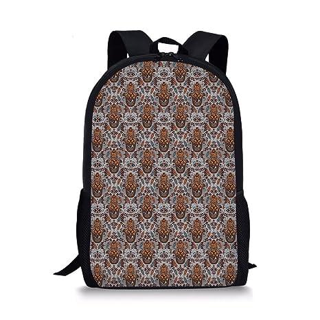 2804507d60e2 Amazon.com  iPrint School Bags Evil Eye