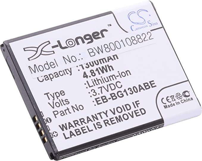 vhbw Li-Ion batería de 1300mAh (3.7V) para teléfono móvil ...