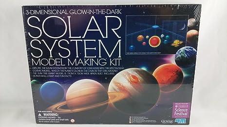SOLAR SYSTEM MODEL MAKING KIT 3 Dimensional Glow in the dark