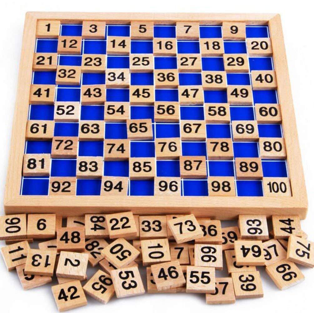 ホットセール NNY木のおもちゃ百ボードモンテッソーリ1-100連続番号収納袋が付いている子供のための木の教育ゲーム L8.26インチ、W8.26 B07HB78FGP L8.26インチ B07HB78FGP, 質SHOP アデ川:aba64378 --- a0267596.xsph.ru