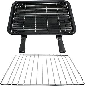 SPARES2GO tamaño mediano parrilla, para y doble modo de iluminación desmontable con asas bandeja ajustable para Kenwood para horno hornos de: Amazon.es: Hogar