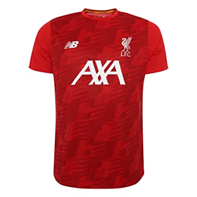 96655e7a8f416 Image Unavailable. Image not available for. Colour: Liverpool FC Short  Sleeve Polyester Mens Football Training Red Off Pitch Lightweight T-Shirt  2019