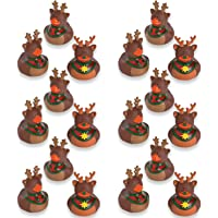 Fun Express Vinyl Holiday Reindeer Rubber Duckies   18 Count   Great for Christmas-Themed Party Favors and Bathroom Holiday Accessories