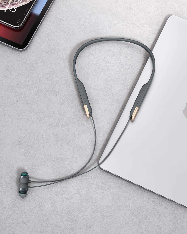 Schnellladen /über USB-C AUKEY Bluetooth Kopfh/örer mit Magnetische Play-//Pause-Funktion 8h Wiedergabe 3 EQ Klangmodi Key Series Bluetooth 5 Neckband Kopfh/örer mit IPX6 Wasserdicht aptX Low Latency