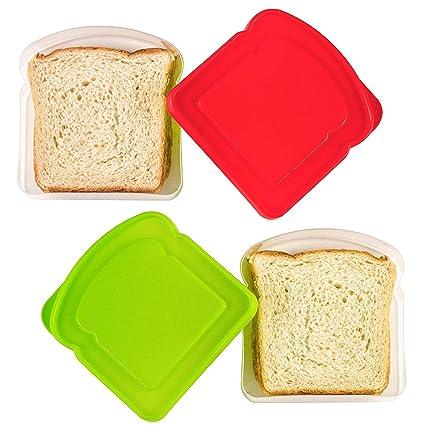 Amazon.com: DecorRack 2 contenedores de sándwich libres de ...