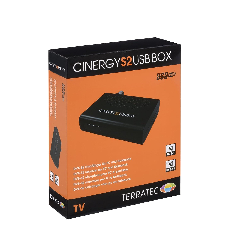 Terratec CINERGY S2 USB BOX - Sintonizador de TV (DVB-S, DVB-T, USB, 88g, 1 MB, 2.0 GHz Intel/AMD, USB) Negro 134439